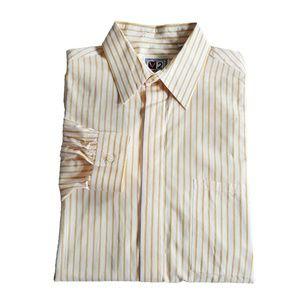 V2 By Versace Mens Cotton Striped Dress Shirt 15.5